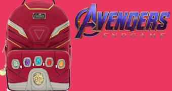 Mini-Mochila Manopla Iron Man com as Joias do Infinito