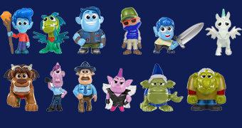 Mini-Figuras do Filme Dois Irmãos: Uma Jornada Fantástica (Onward) da Pixar