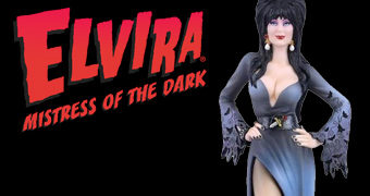 Elvira, a Rainha das Trevas Couture De Force – Estátua Alta Costura Enesco