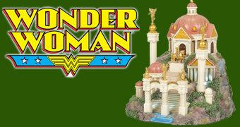 Themyscira DC Comics Village – Miniatura Enesco da Ilha da Mulher-Maravilha