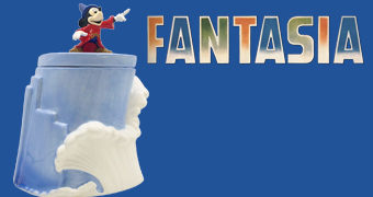 """Pote de Cookies Mickey """"Fantasia"""" 80 Anos"""