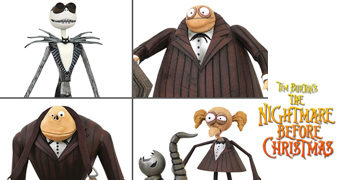 Action Figures Nightmare Before Christmas Select Line com Jack Skellington e a Banda Zumbi