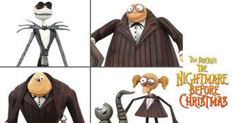 Action Figures Nightmare Before Christmas Select Line com Jack Skellington e a Banda Zumbi