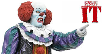 Pennywise (Tim Curry) Estátua Gallery Diorama da Minissérie IT – Uma Obra Prima do Medo