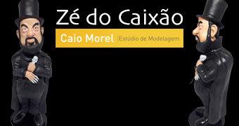 Figura Zé do Caixão do Estúdio de Modelagem Caio Morel (RIP José Mojica Marins)