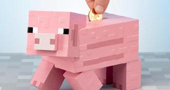 Cofre Minecraft Porquinho Rosa
