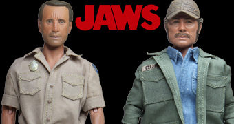 Tubarão (Jaws) Action Figures Retro Neca Clothed: Martin Brody e Sam Quint