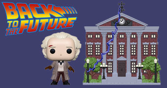 Pop! Town De Volta para o Futuro: Doc Brown e a Torre do Relógio