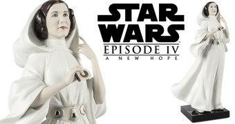 Princesa Leia em Star Wars Uma Nova Esperança – Estátua de Porcelana de Alta Qualidade