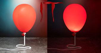 Luminária Balão (Bexiga) Vermelho do Palhaço Pennywise (IT – A Coisa)