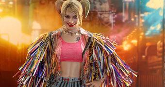 Harley Quinn (Margot Robbie) com Jaqueta de Fitas – Action Figure Perfeita 1:6 Hot Toys do Filme Aves de Rapina