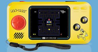 Consoles Portáteis My Arcade Pocket Players de Videogames Clássicos dos Anos 80