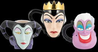 Canecas da Vilãs Disney: Rainha Má, Malévola e Ursula