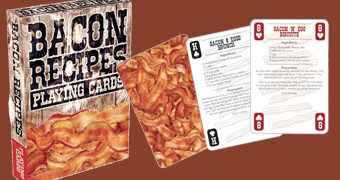 "Baralho ""Bacon Recipes"" com 52 Receitas de Bacon"