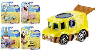 Carrinhos Bob Esponja Calça Quadrada Hot Wheels