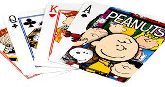 Baralhos Peanuts com Charlie Brown, Snoopy e a Turma Toda!