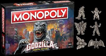 Jogo Monopoly Godzilla com Mothra, King Ghidorah, Minilla, Mechagodzilla e Rodan