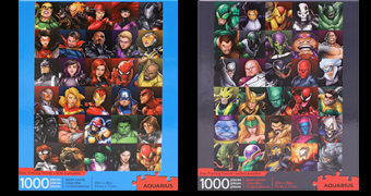 Quebra-Cabeças Heróis Marvel e Vilões Marvel com 1.000 Peças Cada
