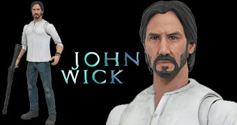 "Action Figure John Wick Select Line 7"" com Roupas Casuais (Keanu Reeves)"