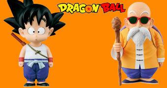 Bonecos Dragon Ball Banpresto: Goku e Mestre Roshi