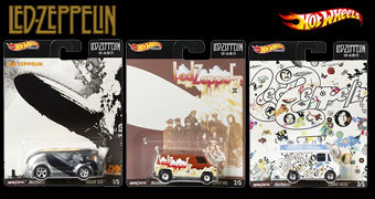 Carrinhos Hot Wheels da Banda Led Zeppelin