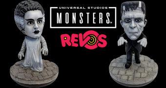 Bonecos REVO Frankenstein e Noiva com Mecanismos de Autocorreção