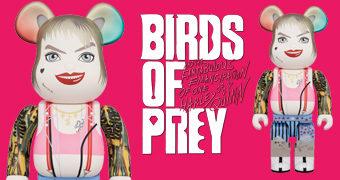 Boneca Harley Quinn Be@rbrick 400% em Aves de Rapina: Arlequina e sua Emancipação Fantabulosa