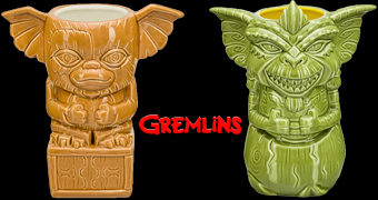 Canecas Geeki Tikis Gremlins: Gizmo e Stripe