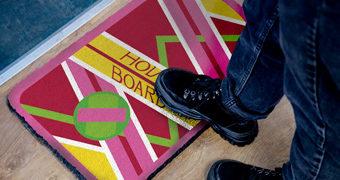 Capacho Skate Hoverboard De Volta para o Futuro