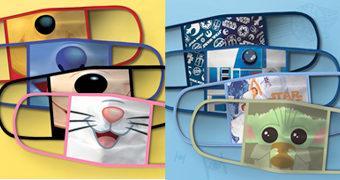 Máscaras de Tecido Disney Face Masks para Prevenção Contra o Novo Coronavírus