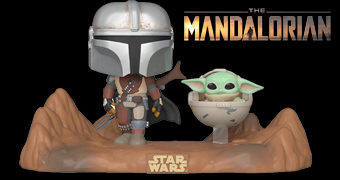 Mandaloriano e Baby Yoda no Deserto Pop! TV Moments e Mais 2 Bonecos Pop! The Child