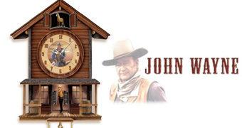 Relógio Cuco John Wayne e seu Cavalo Dollor num Saloon do Velho Oeste