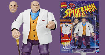"Action Figure Marvel Legends Retro 6"" de Wilson Fisk, o Rei do Crime (Homem-Aranha)"