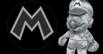 Boneco Metal Mario de Pelúcia Metalizada (Super Mario)