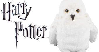 Fantoche de Mão da Coruja-das-Neves Edwiges (Hedwig) de Harry Potter com Efeitos Sonoros