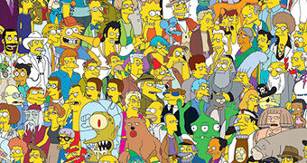 """Quebra-Cabeça Os Simpsons """"Cast of Thousands"""" 1.000 Peças com o Elenco ao Longo de 30 Anos"""