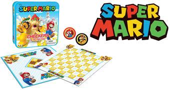Jogo de Damas e Jogo da Velha Super Mario Vs. Bowser