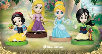 Princesas Disney Mini Egg Attack Beast Kingdom: Cinderella, Branca de Neve, Rapunzel e Mulan