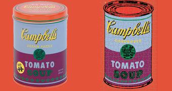 Quebra-Cabeça Andy Warhol Sopa de Tomate Campbell's