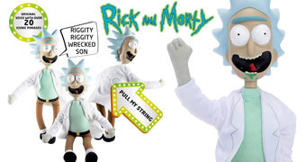 Talking Rick Boneco de Pano Falante Retro com Cordinha nas Costas (Rick and Morty)