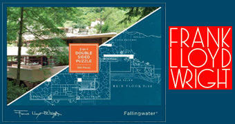 Fallingwater, a Casa da Cascata de Frank Lloyd Wright Quebra-Cabeça de Dois Lados com 500 Peças