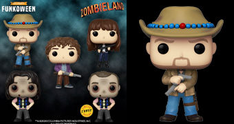 Bonecos Pop! Zumbilândia: Tallahassee, Wichita, Columbus e Bill Murray Zumbi