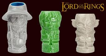 Canecas O Senhor dos Anéis Geeki Tikis: Frodo, Gandalf e Gollum
