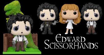 Bonecos Pop! Edward Mãos de Tesoura de Tim Burton com Edward e Kim Boggs