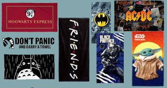 Dia da Toalha 2020 com Toalhas de Harry Potter, Série Friends, AC/DC, Totoro, Baby Yoda, Batman e Pantera Negra