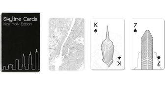 """Baralho """"New York Skyline"""" com Marcos Arquitetônicos Icônicos de Nova York"""