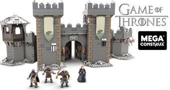 Mega Construx Game of Thrones: Castelo de Winterfell e Navio Targaryen com Blocos de Montar Compatíveis com LEGO