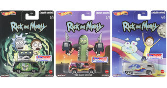 Carrinhos Hot Wheels Rick and Morty