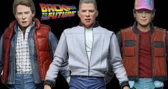 Action Figures De Volta para o Futuro Neca Ultimate: Marty McFly e Biff Tannen
