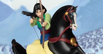 Mulan, Khan e Mushu D-Stage Estátua/Diorama 360 Graus (Beast Kingdom)